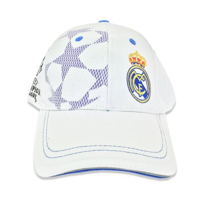 Gorra adulto Real Madrid Champions League blanca - Kilumio b764bd57d64