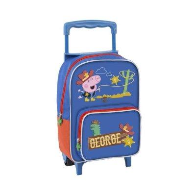 Mochila Trolley infantil Peppa Pig George 30cm