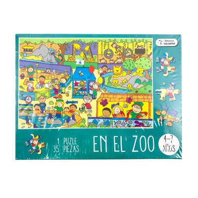 Puzzle caja divertida 35pcs Zoo