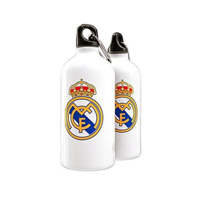 Botella aluminio con clip Real Madrid