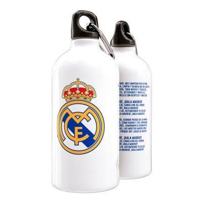Botella aluminio con clip Real Madrid Himno Escudo