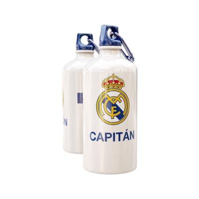 Botella aluminio con clip Real Madrid Capitán