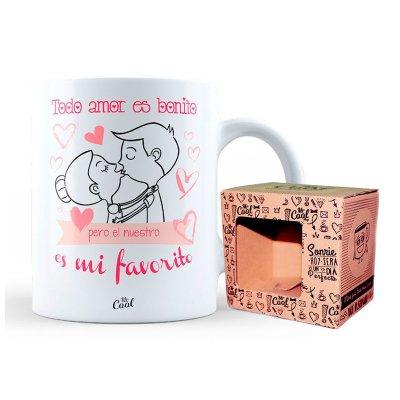Wholesaler of Taza cerámica frases - Nuestro amor es mi favorito