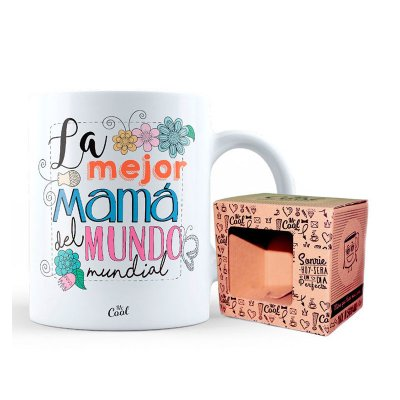 Taza cerámica frases - La mejor mamá del mundo mundial