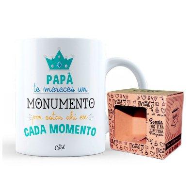 Taza cerámica frases - Papá te mereces un monumento