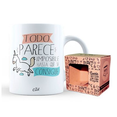Wholesaler of Taza cerámica frases - Imposible hasta que se consigue