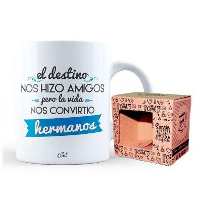 Wholesaler of Taza cerámica frases - La vida nos convirtio en hermanos