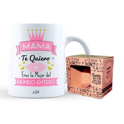 Taza cerámica frases - Mama te quiero, eres la mejor del mundo entero