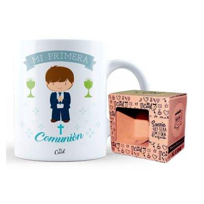 Taza cerámica frases - Mi primera comunión chico