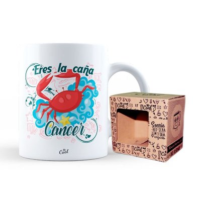 Taza cerámica frases - Eres la caña Cancer