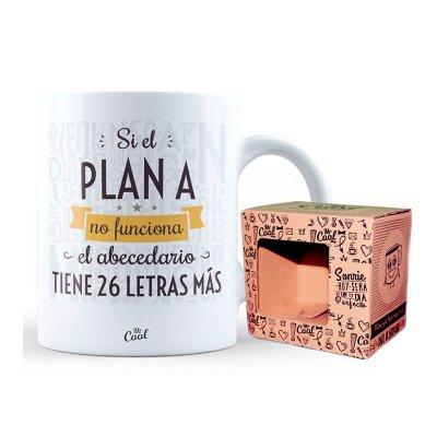 Taza cerámica frases - Si el plan A no funciona abecedario