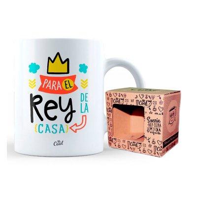 Taza cerámica frases - Para el rey de la casa