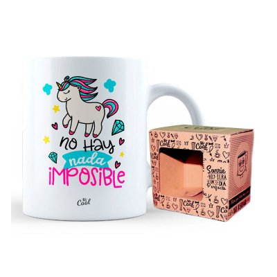 Taza cerámica frases - No hay nada imposible
