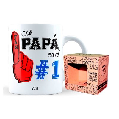 Taza cerámica frases - Mi papa es Nº 1