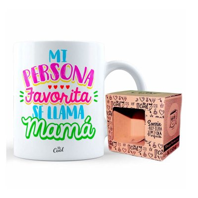 Taza cerámica frases - Mi persona favorita se llama mamá