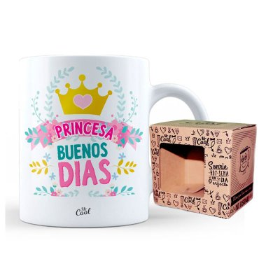 Taza cerámica frases - Buenos Días Princesa