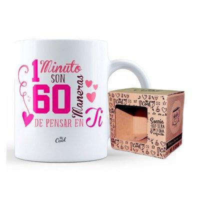 Wholesaler of Taza cerámica frases - 1 minuto son 60 maneras de pensar en ti