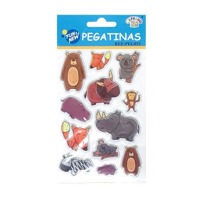 Pegatinas 3D Animales Felices