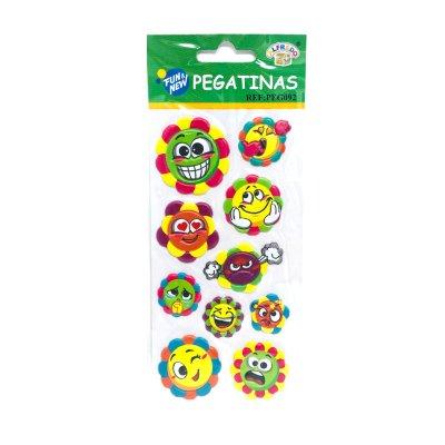 Wholesaler of Pegatinas 3D Flores emoji
