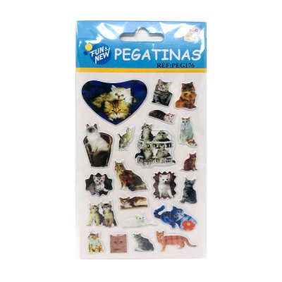 Wholesaler of Pegatinas 3D Gatos