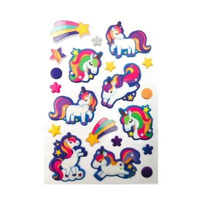 Pegatinas 3D Unicornios - modelo 1
