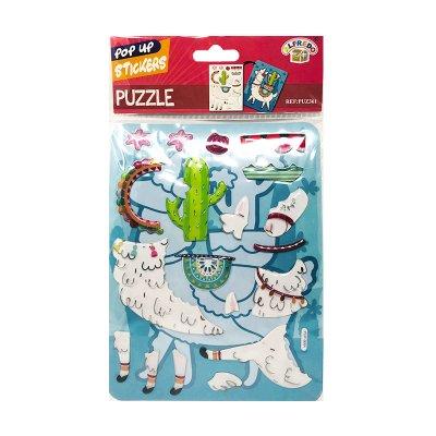 Pegatinas 3D Puzzle Llama