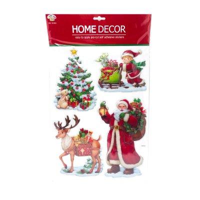 Pegatinas 3D decoración Papa Noel Navidad