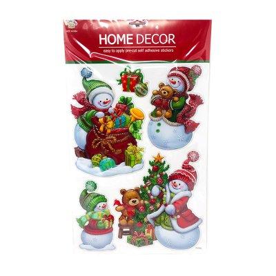 Pegatinas 3D decoración Muñecos de Nieve Navidad