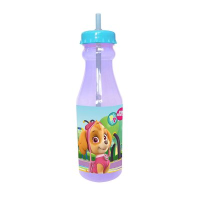 Botella plástico con pajita Paw Patrol