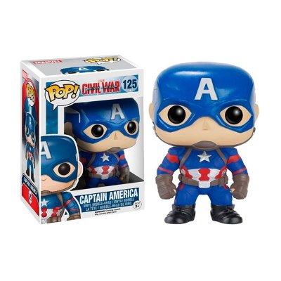 Figura Funko POP! Vynil Bobble 125 Marvel Capitan America