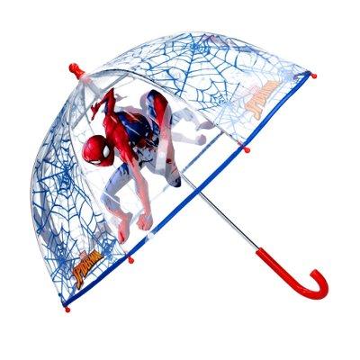 Paraguas cúpula transparente manual infantil Spiderman