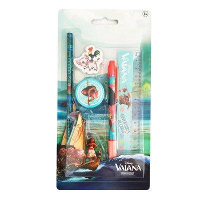 Set de papelería 5 piezas Vaiana Adventures in Oceania