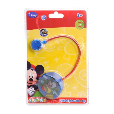 Linterna LED con clip Mickey Mouse