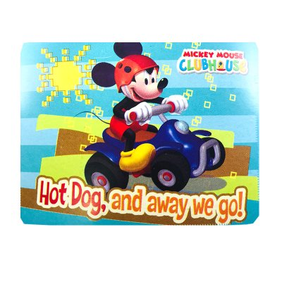 Manta polar Mickey Mouse Club House 120x140cm - azul