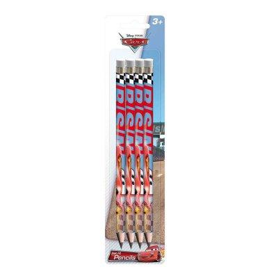 Set 4 lápices con goma Cars