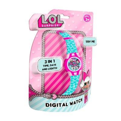 Blíster reloj digital LOL Surprise con luces LED