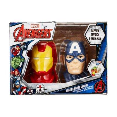 Salero y pimentero Capitán América & Iron Man Marvel
