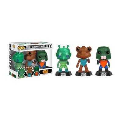 Pack 3 Funko POP! Bobble Star Wars Greedo Hammerhead Walrus Man (Ed Limitada)