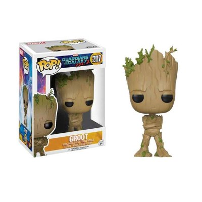 Figura Funko POP! Bobble 207 Groot Guardianes de la Galaxia 2 (Ed.Limitada)