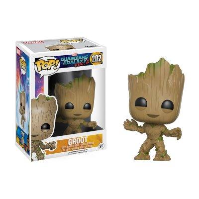 Figura Funko POP! Bobble 202 Groot Guardianes de la Galaxia 2