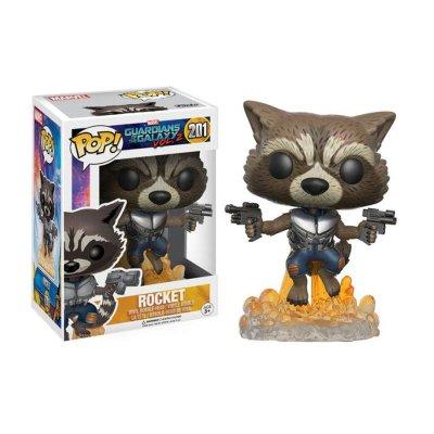 Figura Funko POP! Bobble 201 Rocket Guardianes de la Galaxia 2