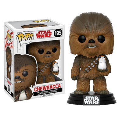 Figura Funko POP! Bobble 195 Chewbacca c/Porg Star Wars Episodio VIII