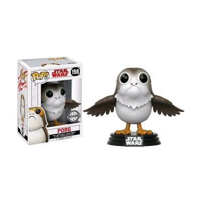 Figura Funko POP! Vynil Bobble 198 Star Wars Porg (Ed Limitada)