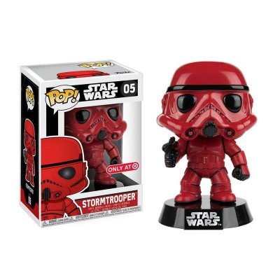 Figura Funko POP! Vynil Bobble 05 Star Wars Stormtrooper Rojo (Ed.Limitada)