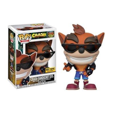 Figura Funko POP! Vynil 275 Crash Bandicoot c/chaqueta motera (Ed.Limitada)