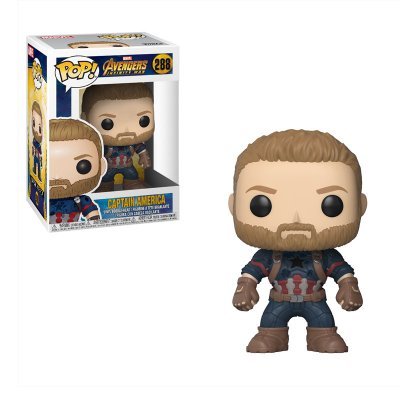Figura Funko POP! Vynil Bobble 288 Advengers Infinity War Capitán América