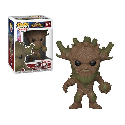 Figura Funko POP! Vynil Bobble 297 King Groot Contest of Champions