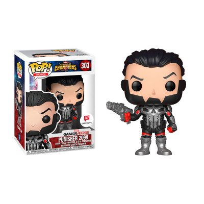 Figura Funko POP! Vynil Bobble 303 Punisher 2099 Contest of Champions (Ed.Limitada)