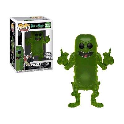 Figura Funko POP! Vynil 333 Pickle Rick translúcido Rick y Morty(Ed.Limitada)