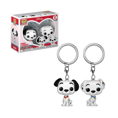 Llavero Funko Pocket POP! Keychain Pongo & Perdita Dálmatas Disney